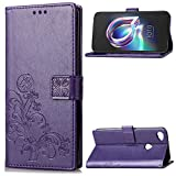 Funda® 3D Relief Patterns Flip Wallet Case for Alcatel