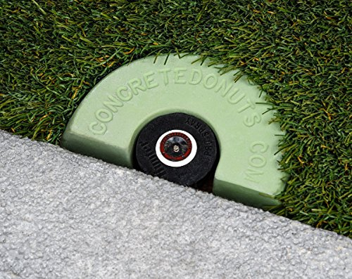 Concrete Donuts for a Spray Head Half, Small, Green