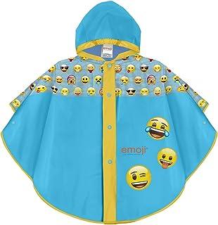 PERLETTI Poncho Impermeable Emoji para Niño y Niña -