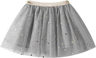 3 Colors Kids Baby Girls Stars Sequins Party Ballet Tutu Skirts Princess Dress