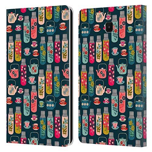 Officiële Andrea Lauren Design Thermoskan Voedsel Patroon Lederen Book Portemonnee Cover Compatibel voor Samsung Galaxy Tab A 8.0 2018