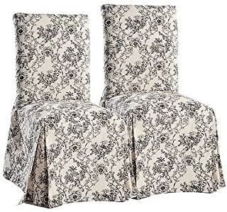 Classic Slipcovers Toile print dining chair set of 2