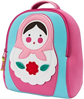 dabbawalla bags preschool & toddler russian doll backpack, pink by dabbawalla bags