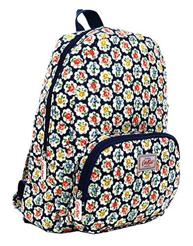 Cath Kidston Lightweight Backpack Rucksack Provence Rose in Ink Navy Blue Polyester
