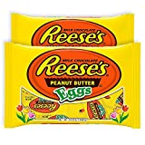 Hershey Reeses Peanut Butter Milk Chocolate | Easter Egg Hunt Candy & Easter Basket Stuffers | Individually Wrapped Spring Treat Gift | Pack of 2