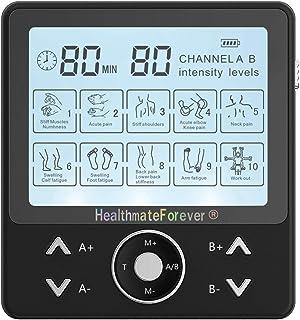 HealthmateForever 8 modos Mini cuerpo mano Electro masaje muscular terapia máquina soporte cinturón
