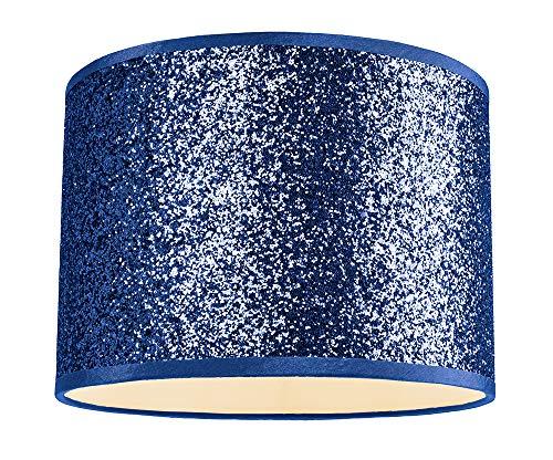 Moderne en designer nachtblauwe glitterstof hanger/lampenkap 25cm breed