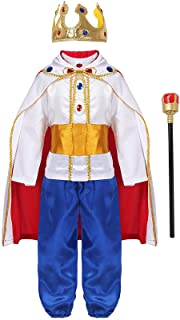 KKmeter Prince King Costume for Kids Boys Medieval Prince Costume Halloween Christmas Cosplay Party Outfits Fancy Dress up