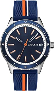 Lacoste Mens Quartz Watch, Analog Display and Silicone Strap 2011007