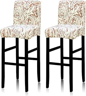 Deisy Dee Stretch Slipcovers Chair Cover for Counter Height Side Chairs Covers Stretch..