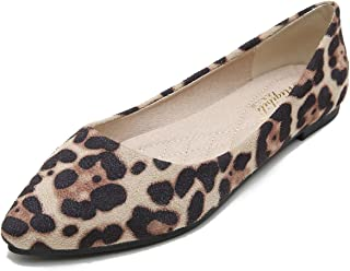 FRACORA Women Flat Shoes Pointy Toe Slip On Flats