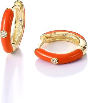 KOSINER 14K Gold Plated 9mm Small Hoops Earrings