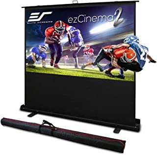 Elite Screens ezCinema 2, Portable Manual Floor Pull Up with Scissor Backed Projector Screen,110-inch,16:9, 16:10, 4:3,1:1...