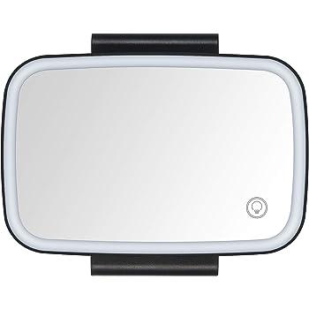 Espejo De Cristal Irrompible De Decoraci/ón Interior HD Espejo De Tocador De Sombrilla Quiet.T Espejo De Maquillaje para El Parasol del Coche