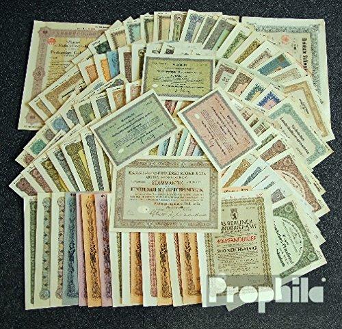Prophila Collection Deutschland 100 Verschiedene Wertpapiere (Hist. Wertpapiere für Sammler)