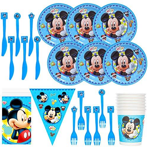 JPYH 26PCS Set de Fiesta de cumpleaños de Mickey Disney Mickey Mouse...