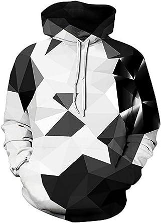 OYABEAUTYE Unisex Women Realistic 3D Print Galaxy Pullover Top Slim Fit Hooded Hoodie Sweatshirt