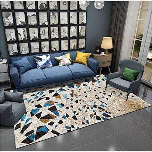 SWNN Carpet Nordic Retro Minimalistischen Textur Teppich Wohnzimmer Korridor Schlafzimmer Nacht Kristall Samt Rechteckigen Anti-Rutsch-Matte Polyester (Size : 200 * 300cm)