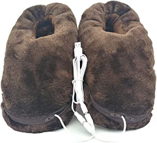 USB Heating Slippers Heated Pad for Feet Warm Unisex Women Men with Another One Free Pair Heating Pad