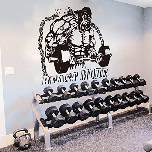 fancj Gran Pegatina de Vinilo Kong para Fitness, Gimnasio, hervidor, Campana, Adhesivo, Mural para Gimnasio, Crossfit, Fitness, Estudio, Pared de motivación