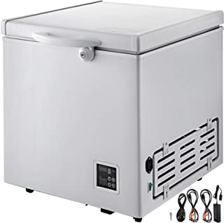 VBENLEM BD-60DC Deep Freezer 60L(2.1 cu ft) Chest Freezer Electronic Control Mini Single-Door Freezer With 2 Storage Baskets & Lock & Wheels for Car Home Camping Truck Party