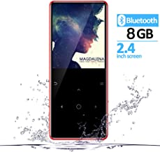 $30 Get 8GB MP3 Player with Bluetooth and Built in Speaker 2.4 inch Screen Touch Buttons Metal Shell FM Radio Voice Recorder Ebook Clock Sport MP 3 HiFi Mini USB Music Player Portable Walkman GREATLINK (RED)