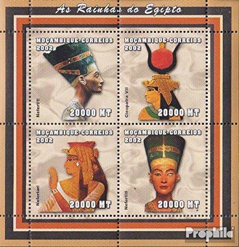 Prophila Collection Mosambik 2441-2444 Kleinbogen 2002 Altägyptische Herrscher (Briefmarken für Sammler) Kultur
