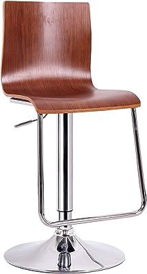 Modern Adjustable Height Swivel Barstool Bar Stool Pub Chair Kitchen Island Counter Set of 2 Amelia  Bar Stool Leather PU Upholstered Stool Chrome Base with Backrest /& Footrest Stool White