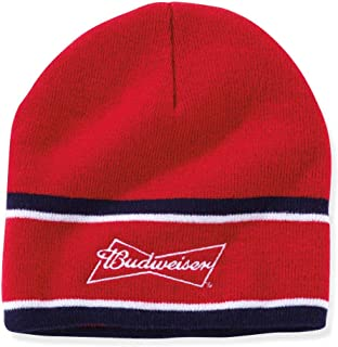 5a3492f8228a8 Budweiser Adult Signature Stitched Beanie Hat - Red White and Blue