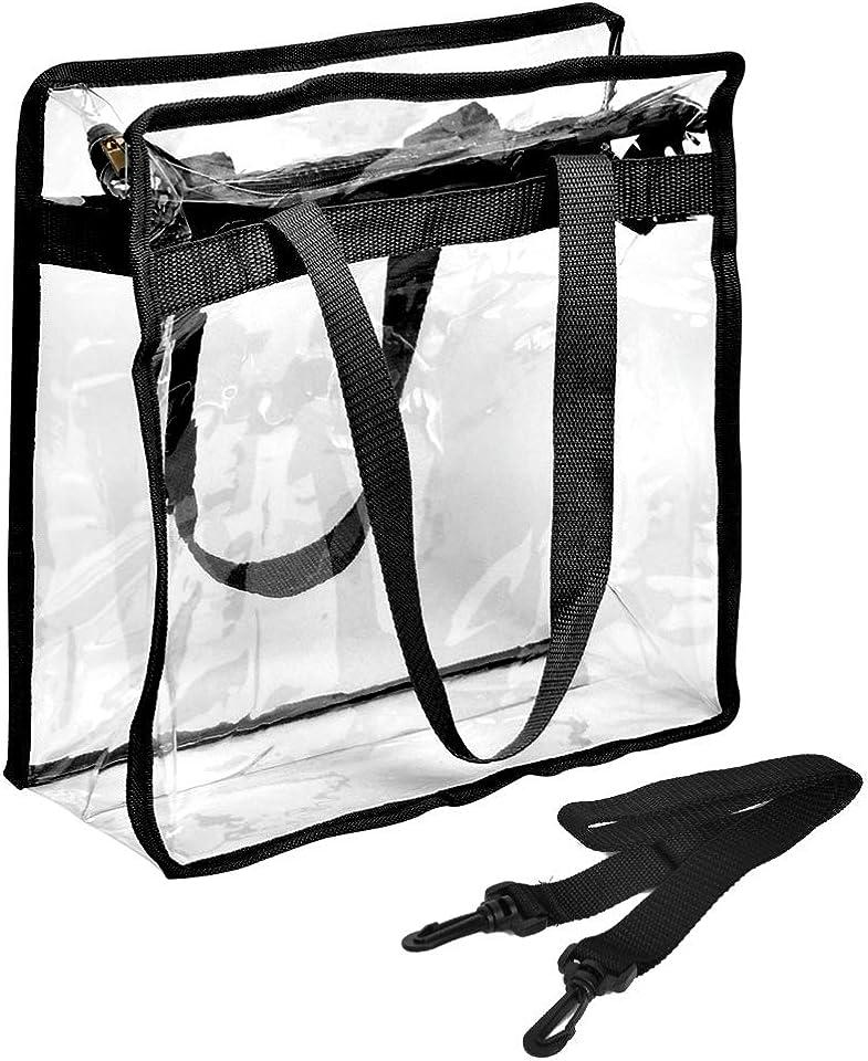 Transparent Tragetasche Durchsichtige Umhängetasche Reise Transparent Kosmetiktasche, Durchsichtig Kulturbeutel Handtasche Clear Tote Bag Reisetaschen PVC Kulturtasche Reise