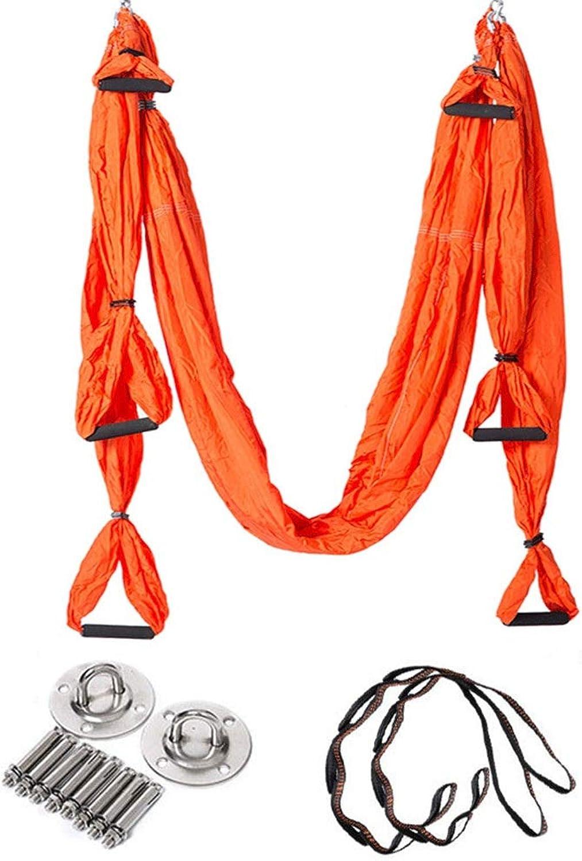 UICICI Aerial Yoga Hngematte umgekehrt inGrüniert 6 Griff Yoga Hngematte Home Fitness mit Stretch-Chrysantheme-Seil