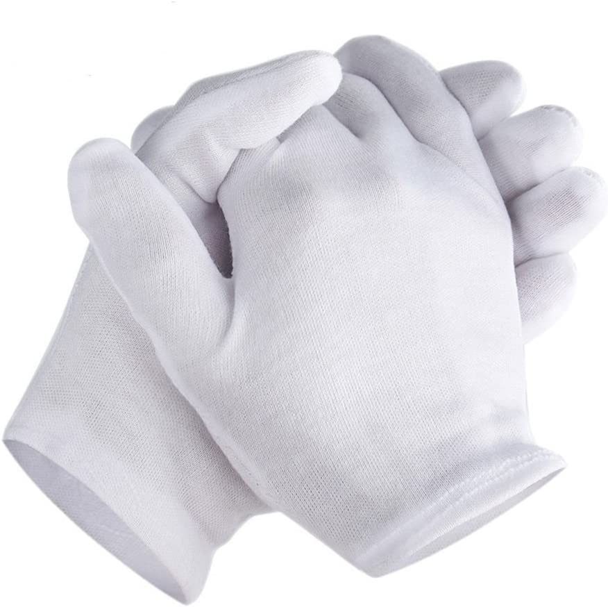 Zealor Genuine Special sale item Free Shipping 6 Pairs White Cotton Thickened Gloves Lining Stretchable
