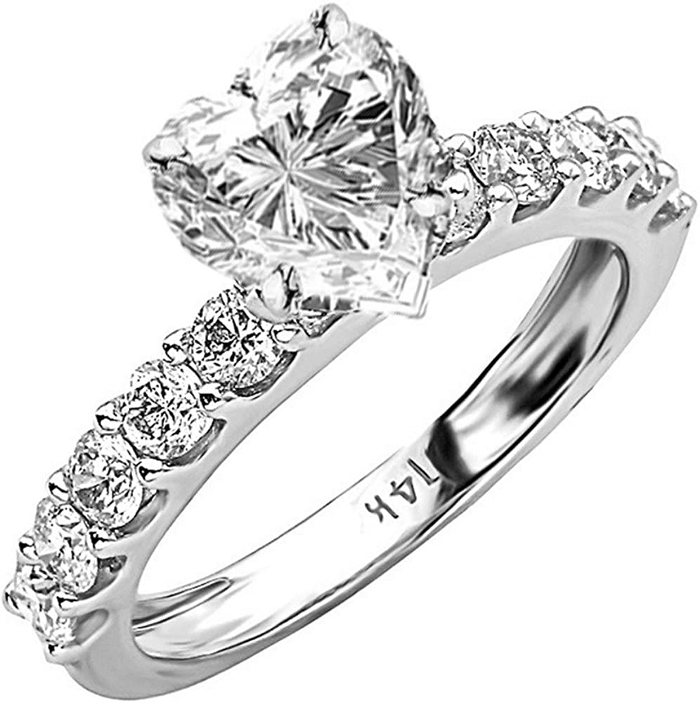 14K White Gold 2 Carat LAB DIAMOND List price 2021 new Classic GROWN S CERTIFIED IGI