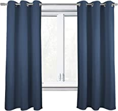 "NIM Textile Thermal Insulated Blackout Curtains Room Darkening Window Panel Grommet Top Drapes - Sofiter Collection - 84"" ..."