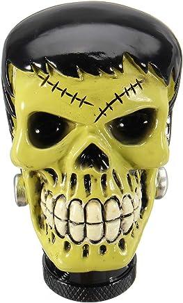 JenNiFer Universal Voiture T/ête De Mort Manuelle Transmission Gear Shift Bouton Skull Shifter Levier Blanc Cass/é