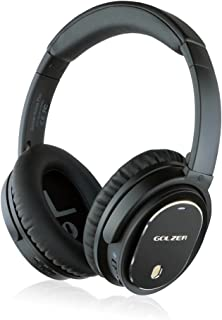 Golzer Axios Pro Wireless Bluetooth Headphones with Active Noise Cancelling, Headphones-to-Heaphones Audio Sharing (ShareMe), Internal and Detachable External Mic, Detachable Wired Audio