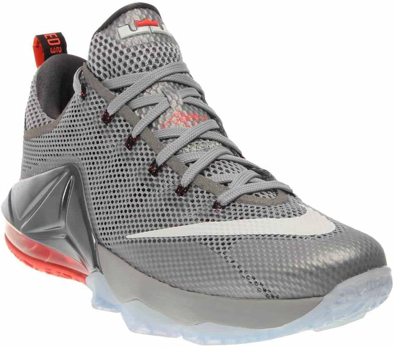 Nike Men's Lebron XII Low Grey Lava White 724557-014