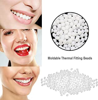 Cosmetic Temporary Tooth Repair Kit Moldable Thermal Fitting Beads for Snap On Instant Perfect Smile Comfort Fit Flex Teeth Veneers - Denture for Top and Bottom Teeth Neat