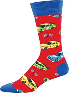 Socksmith Mens Novelty Crew Socks Pit Stop - One Size