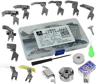 17pcs Industrial Sewing Machine Parts Presser Pressure Foot Accessories and Case