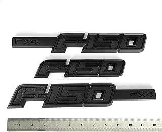 3pcs OEM F-150 Fx4 Emblem Side Fender F-150 Badge Rear Tailgate 3D Nameplate Replacement for F150 Origianl Size Genuine Parts Black