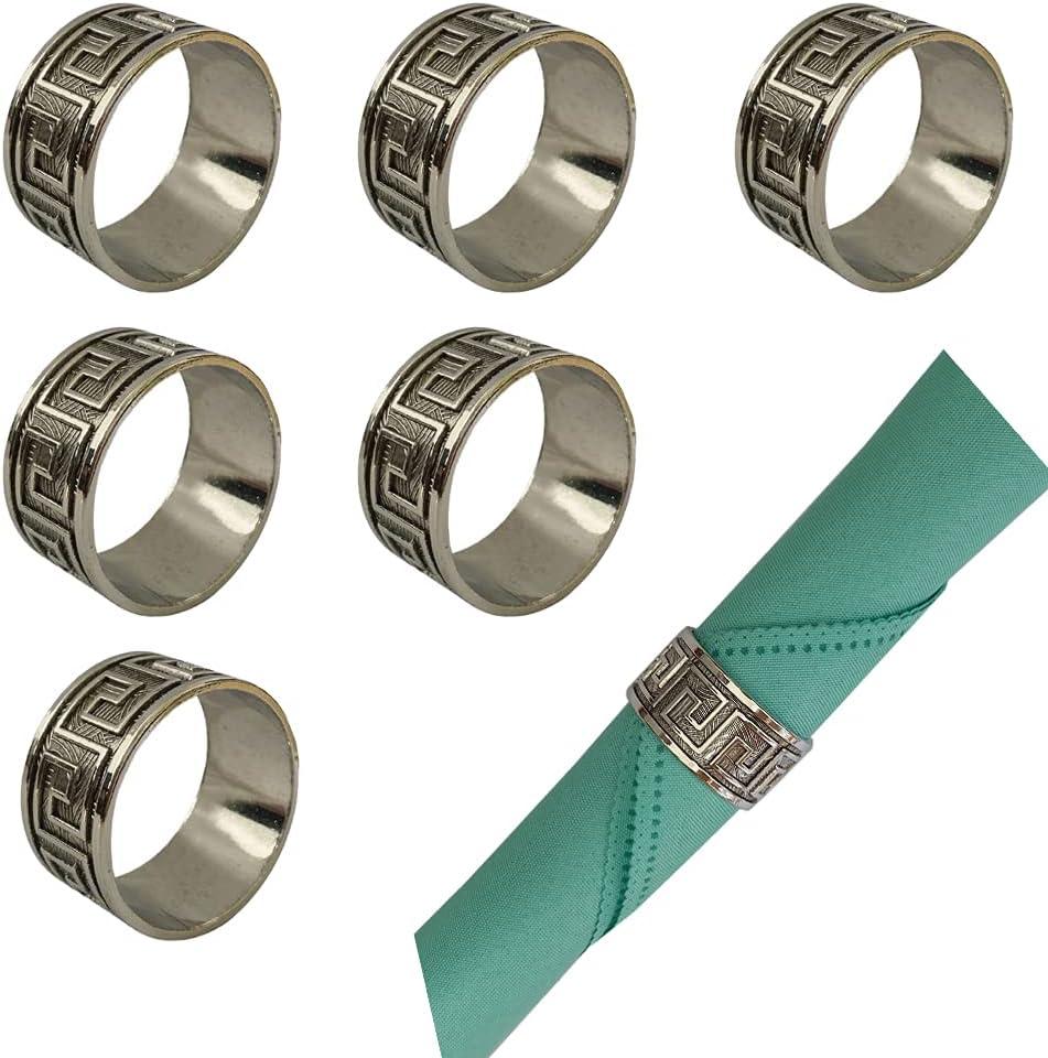 DOhouseworkDO Vintage Napkin Rings Set Dealing Superior full price reduction 6 Rustic of Grey