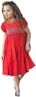 Sofia Baby Toddler & Girls Smocked Red Christmas Dress
