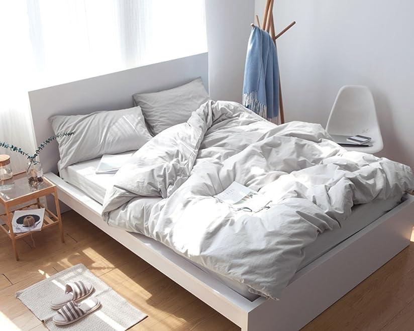 マーキング施設大宇宙グレー 無地の寝具カバー/掛ふとんカバーと枕カバー2枚 セミダブル