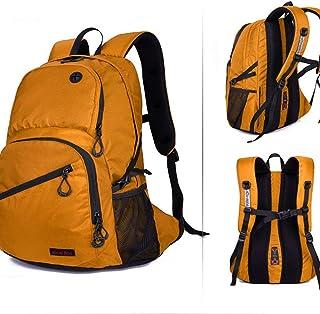 Globalucky Mountaineering Backpack Men Outdoor Travel Sports Bag Backpack Mountaineering Bags 16L Hiking Backpacking Camping Mountaineering (Color: Yellow) (Color : Yellow)