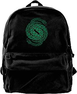 MIJUGGH Canvas Backpack Des-Tiny 2 Gambit Logo Rucksack Gym Hiking Laptop Shoulder Bag Daypack for Men Women