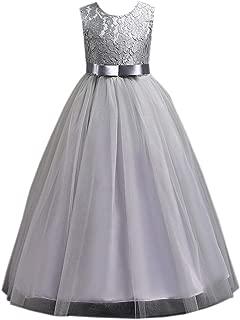 Elonglin Girls Princess Dress Wedding Bridesmaid Party Birthday Dress Ball Gown
