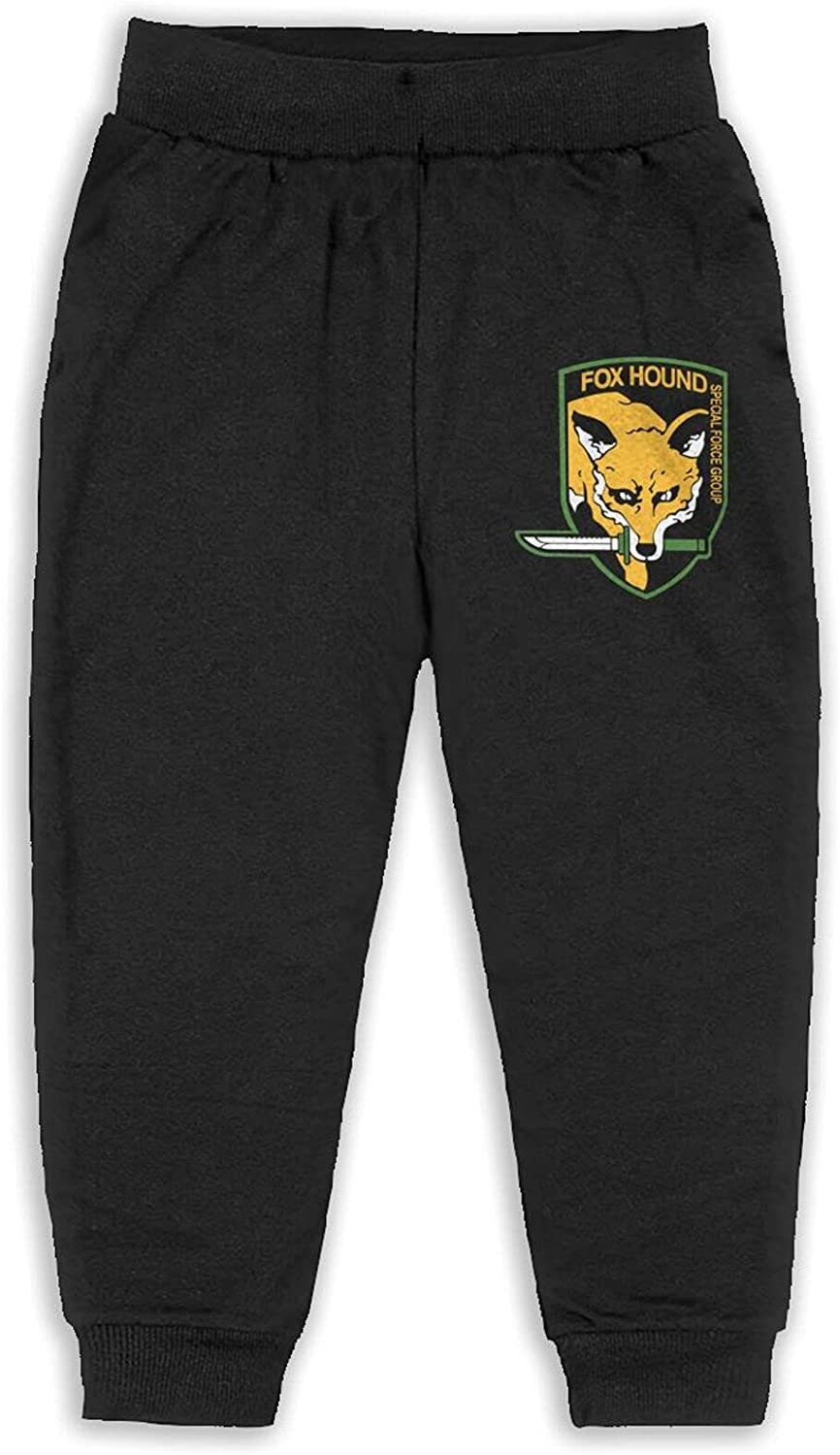 Unisex Kids Metal Gear Solid Fox Hound Pant Cotton Training Pants Basic Pants for Child
