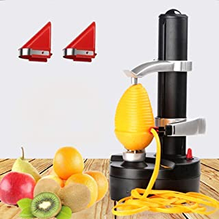 YOUDirect Electric Peeler Automatic Potato Peeler Rotating Fruit and Vegetable Peeling Machine with 2 Extra Blades