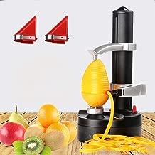 YOUDirect Electric Peeler Automatic Potato Peeler Rotating Fruit and Vegetable Peeling Machine with 2 Extra Blades